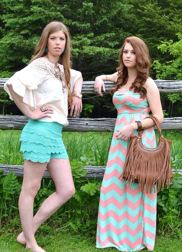 Jezebelles pairing ideas! Chevron, fringe, ruffle, lace and more all available on our FB page www.facebook.com/jezebelles