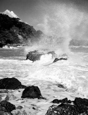 Takis Tloupas,Stomio,Larisa,Greece,1955-Με κύμα στο Στόμιο Λάρισας.1955 φωτ.Τάκης Τλούπας