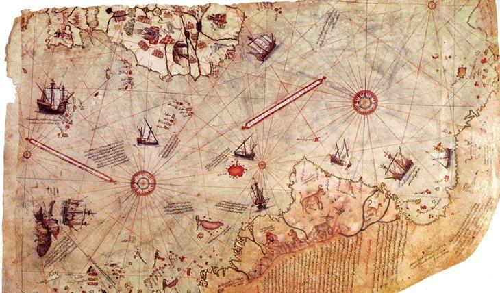 Самые пугающие и странные артефакты мира. Карта Пири-Рейса