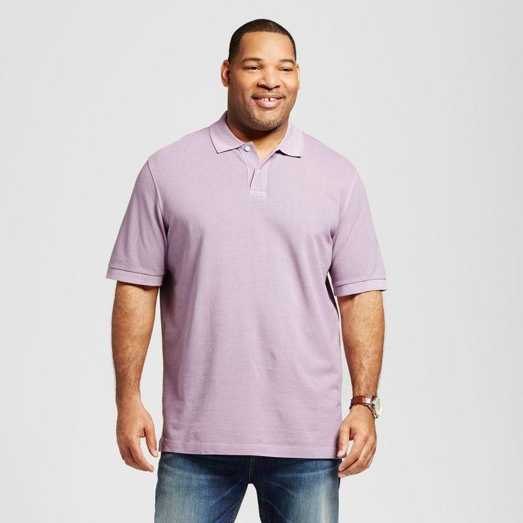 Men's Big & Tall Polo Purple M Tall - Merona, Shirts & Tops