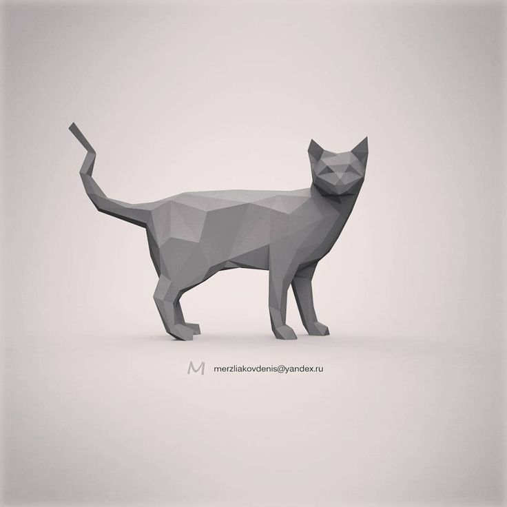 0 отметок «Нравится», 1 комментариев — мерзляков (@denismerzliakov) в Instagram: «#lowpoly #low #poly #cat #kitty #3d #model #3dmodel #cnc #3dprinting #animals #sculpture #statue…»