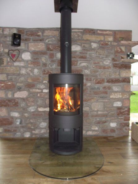 25 Best Woodburners On Glass Hearths Images On Pinterest