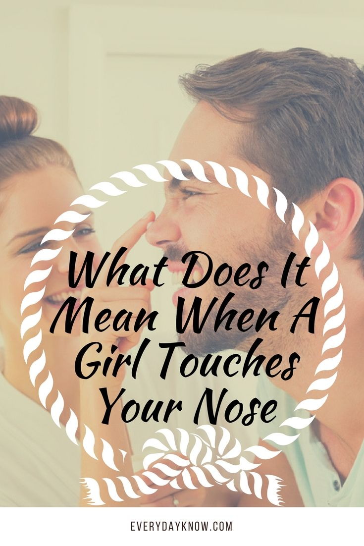 What does it mean when a girl touches you