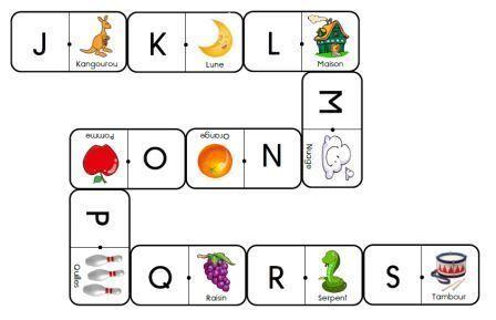 Les dominos des lettres (cursive, script, majuscule) à imprimer