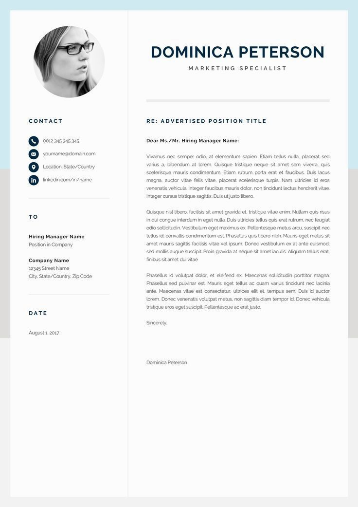 Pin by CVs on CV Templates One page resume template