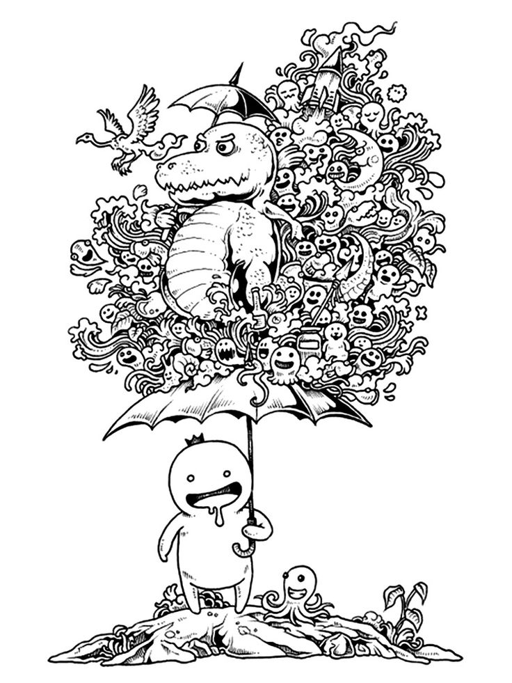 doodle coloring book pages - photo#44