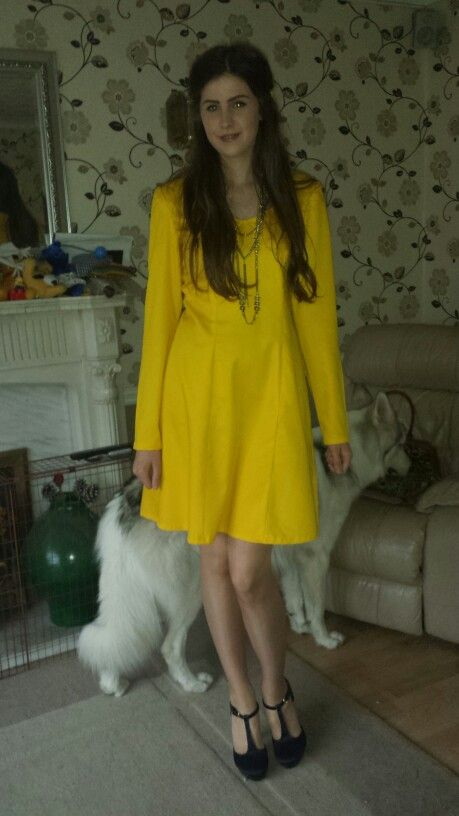 #yellow #dress #spring #bright #homemade #madeinengland #dressmaking - One of my latest dresses 1