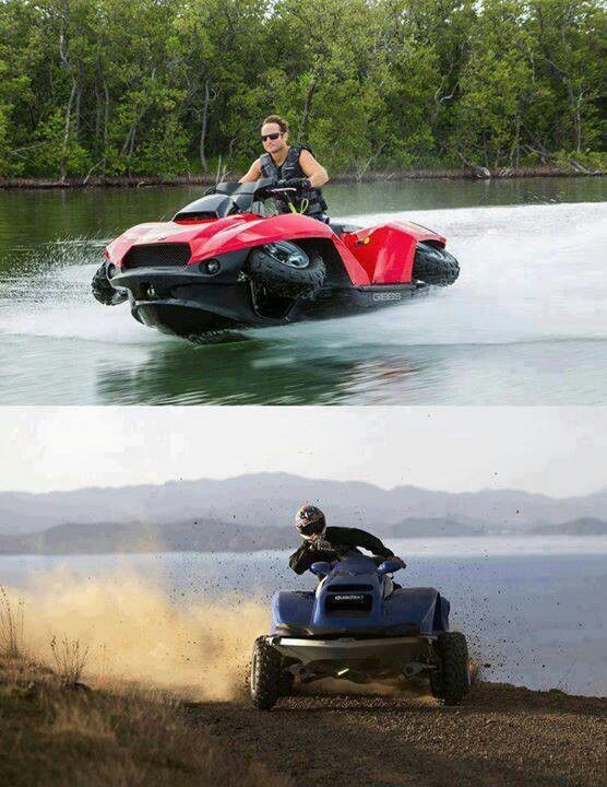 How SWEET is that?!  It's called a quadski, and can go 45 mph on both land and water!!  I want one.