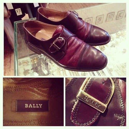 BALLY men's leather shoes £22 #vintage #BALLY #mens #shoes #menswear #gold #buckle #authentic #designer #quality #timeless #leather #burgundy #fashion #retro #style #trend #vintageguruscotland #byresroad