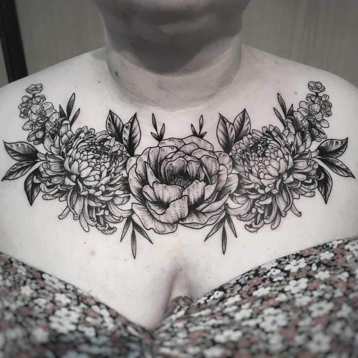 Black Flower Tattoo
