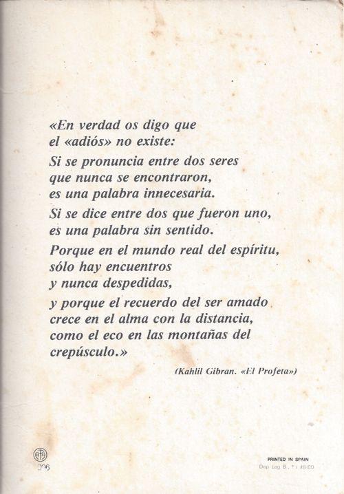 Khalil Gibran - El Adios