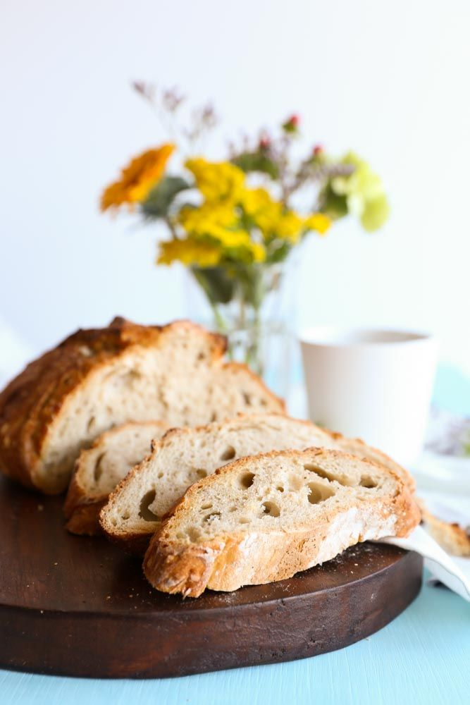 Recipe for a very Easy Homemade Spelt Bread, by Eva in the Kitchen. This bread takes just 5 minutes to prepare, and there's no kneading involved!
