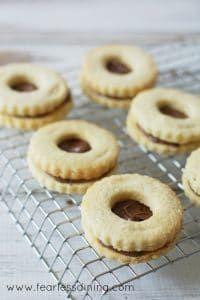 Gluten Free Nutella Filled Linzer Cookies image