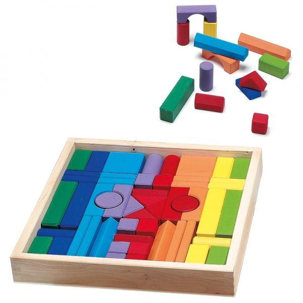 Bauklötze Holzbaukasten farbig - Wendelstein Werkstätten #colorful #wood #game #kids #bricks #toy