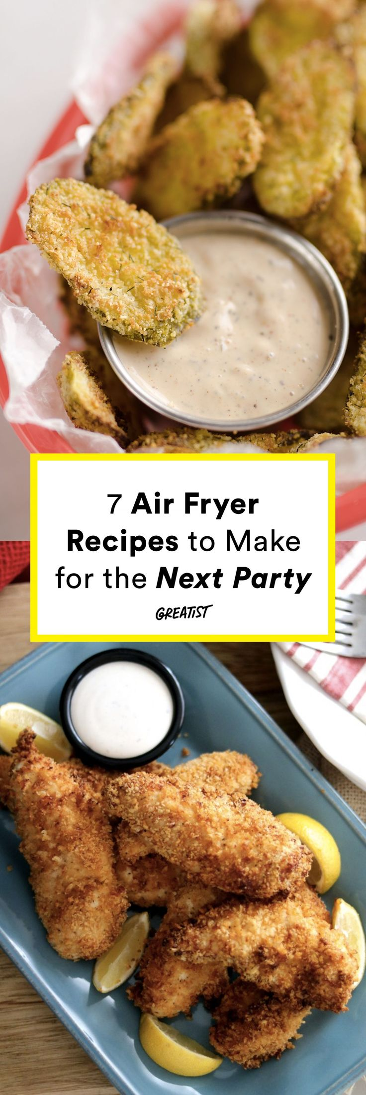 Including fries, duh. #greatist https://greatist.com/eat/air-fryer-recipes-that-make-the-best-party-foods
