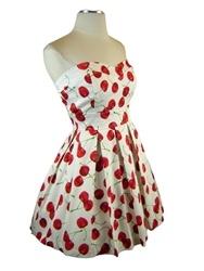 Cute Cherry Print Sundress