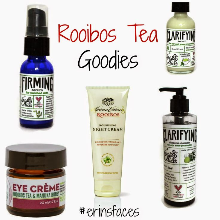 Why Tea is Awesome in Your Skincare, erin's faces, african extracts, cream, mositurizer, nz fusion botanicals, eye creme, eye cream, rooibos tea, manuka honey, clarifying, serum, firming, charcoal, cleanser, vegan, organic, cruelty free