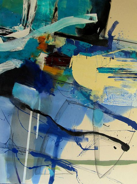 light blue cold colors art abstract by Lee Kaloidis