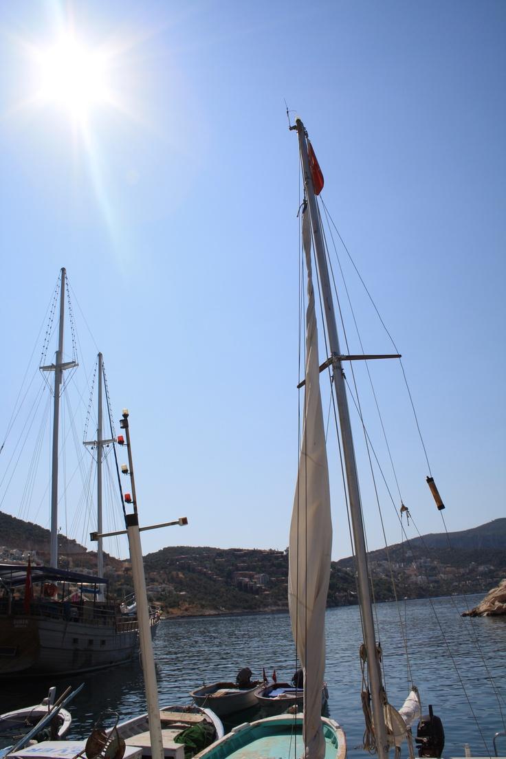 Boats in Kalkan harbour