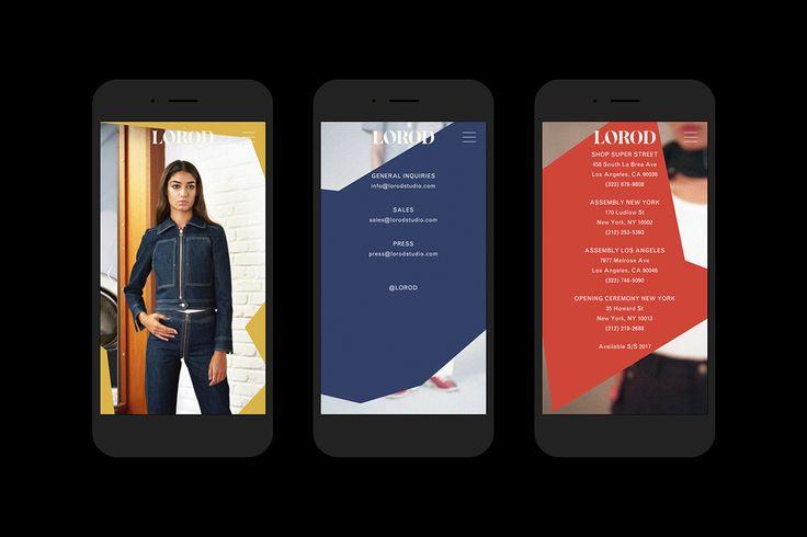 Brand identity and website by Pentagram's Natasha Jen for fashion brand Lorod.