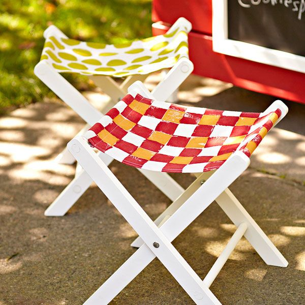 children's folding-stool, I love this for even for the big dining table in the backyard.