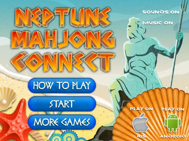 Play #NeptuneMahjongConnect. We invite you into the underwater kingdom of Neptune in this new addictive colorful mahjong connect game.
