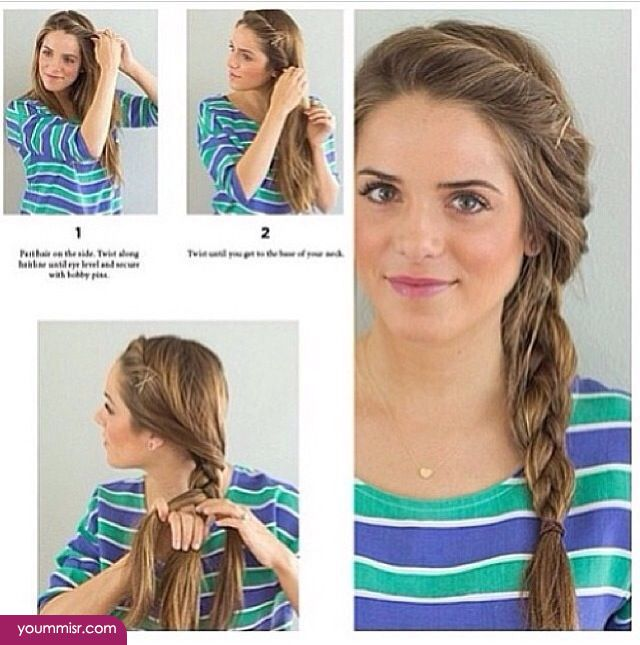 simple hairstyles for school 2015 Tutorials 2016 http://www.yoummisr.com/simple-hairstyles-school-2015-tutorials-2016/