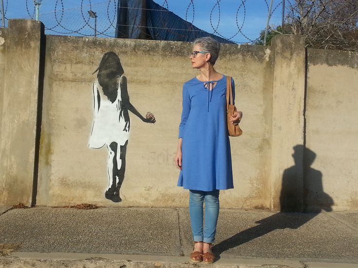 Serenity blue swing dress