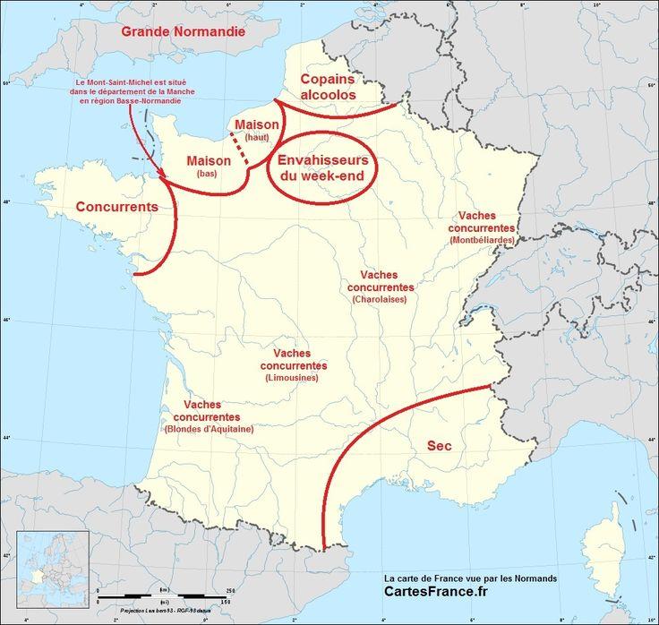 La carte de France vue par les Normands http://www.cartesfrance.fr/insolite/cartes-france-vue-par/carte-france-vue-par-normands.html