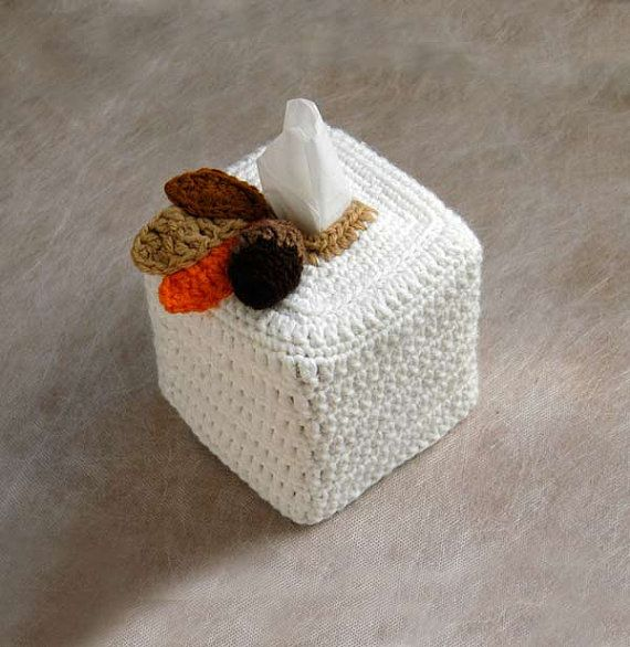 Tissue Box Cover Rustic Modern Decor Autumn by NutmegCottage