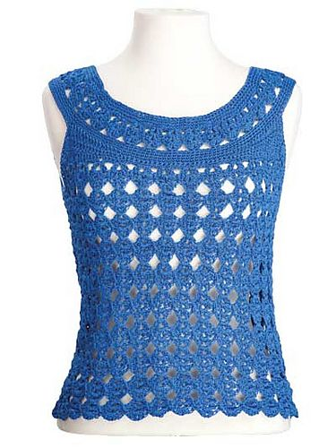 This would be great crocheted in Valley Yarns Valley Cotton 5/2 Mercerized Perle Cotton yarn >> Ravelry: Marilyn Sleeveless Top pattern by Kim Guzman