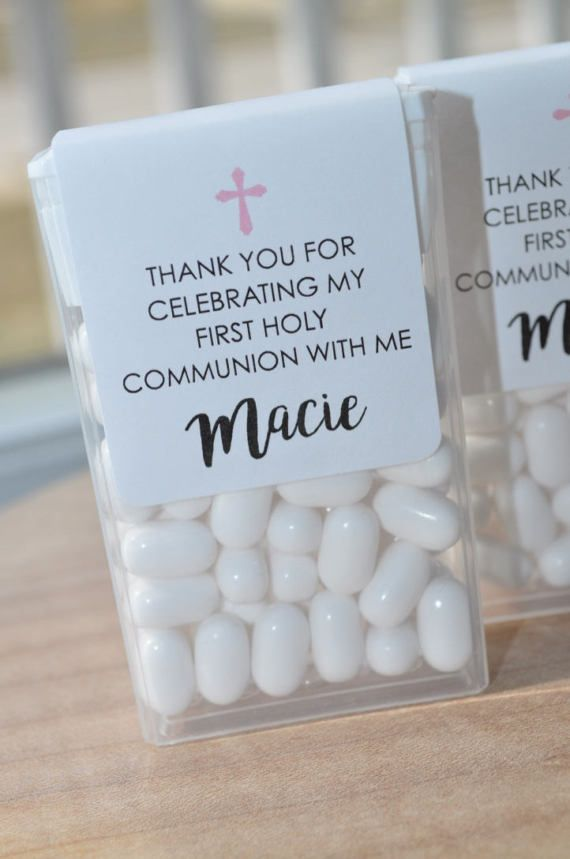 1st Holy Communion Party Favors Tic Tac Labels Mint Favors