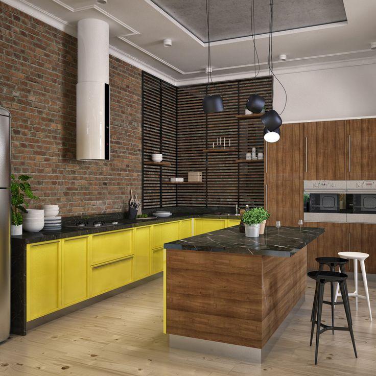 Авангард и лофт - Кухня в современном стиле | PINWIN - конкурсы для архитекторов, дизайнеров, декораторов