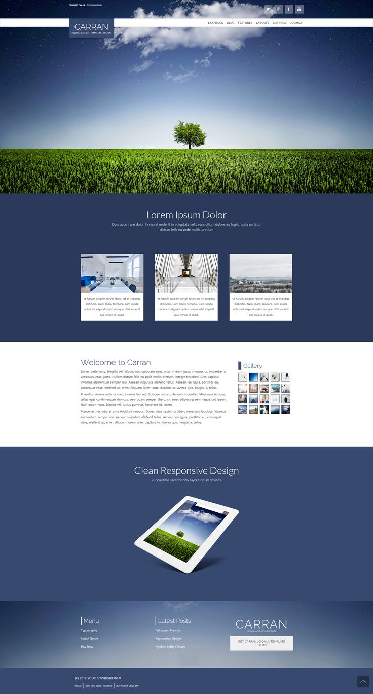 Responsive #joomla #template with fullscreen header option. http://www.joomlage.com