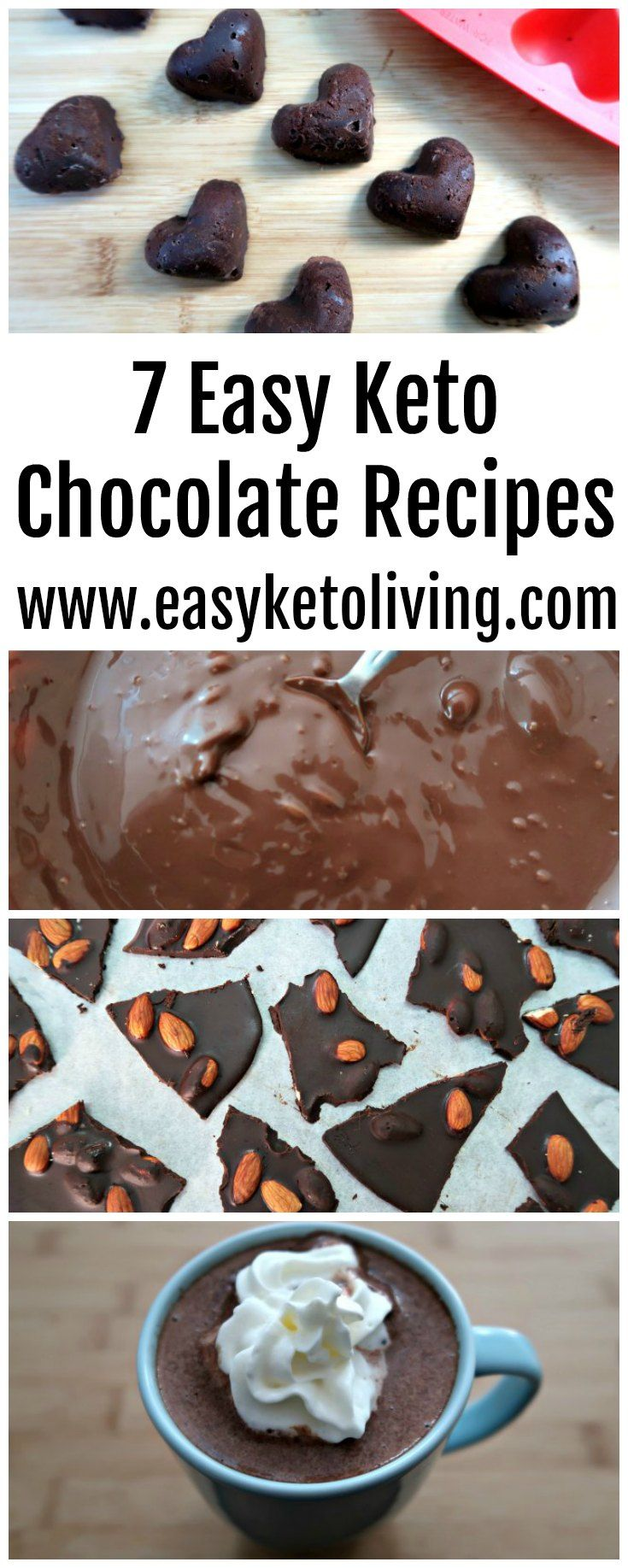 7 Keto Chocolate Recipes - Easy Low Carb Decadent Chocolate Desserts - LCHF sweet treats and puddings including truffles, fat bombs, hot chocolate and more!