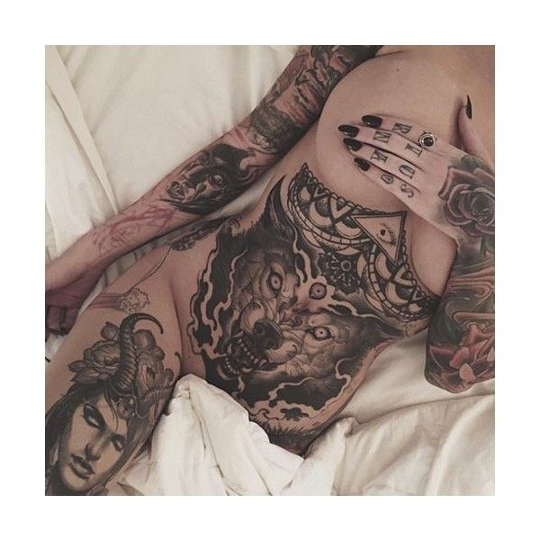 Stupendous Stomach Tattoos ❤ liked on Polyvore featuring accessories and body art