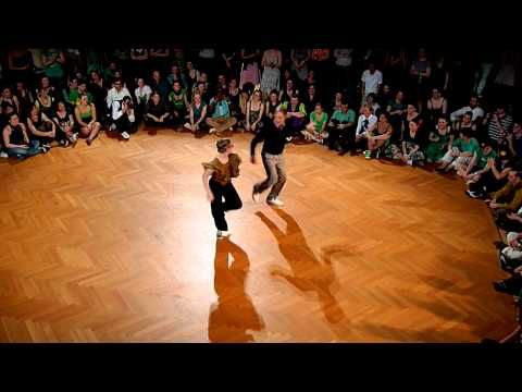 Precious Lindy Hop video from Sweden, I love all the style choices that the follow makes! So fun