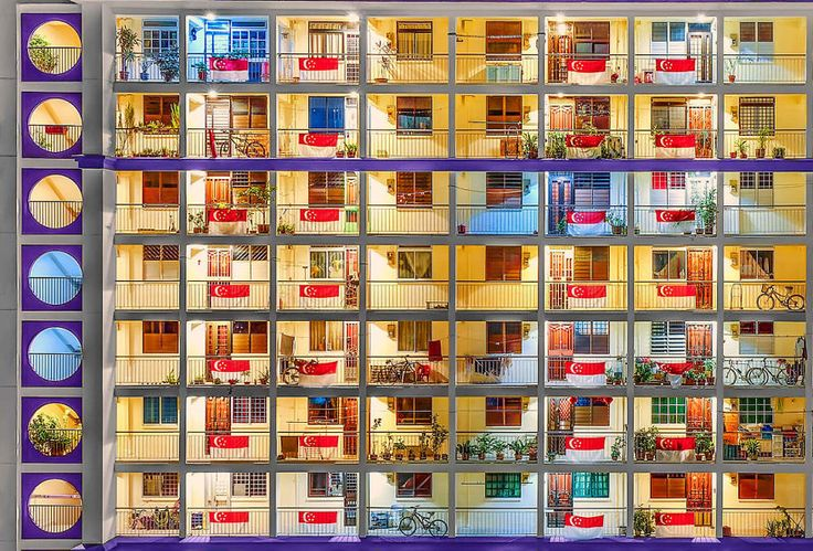 Lester Koh, Singapore National Award - Lester has captured this image of one of Singapore's Oldest Public housing buildings. He shot the picture at dawn on Singapore's 51st National Day in August 2016.