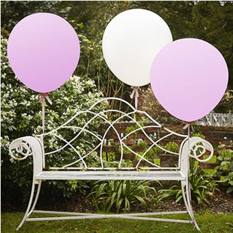 White & Pink 36 Inch Feature Balloons- Vintage Affair - image 1