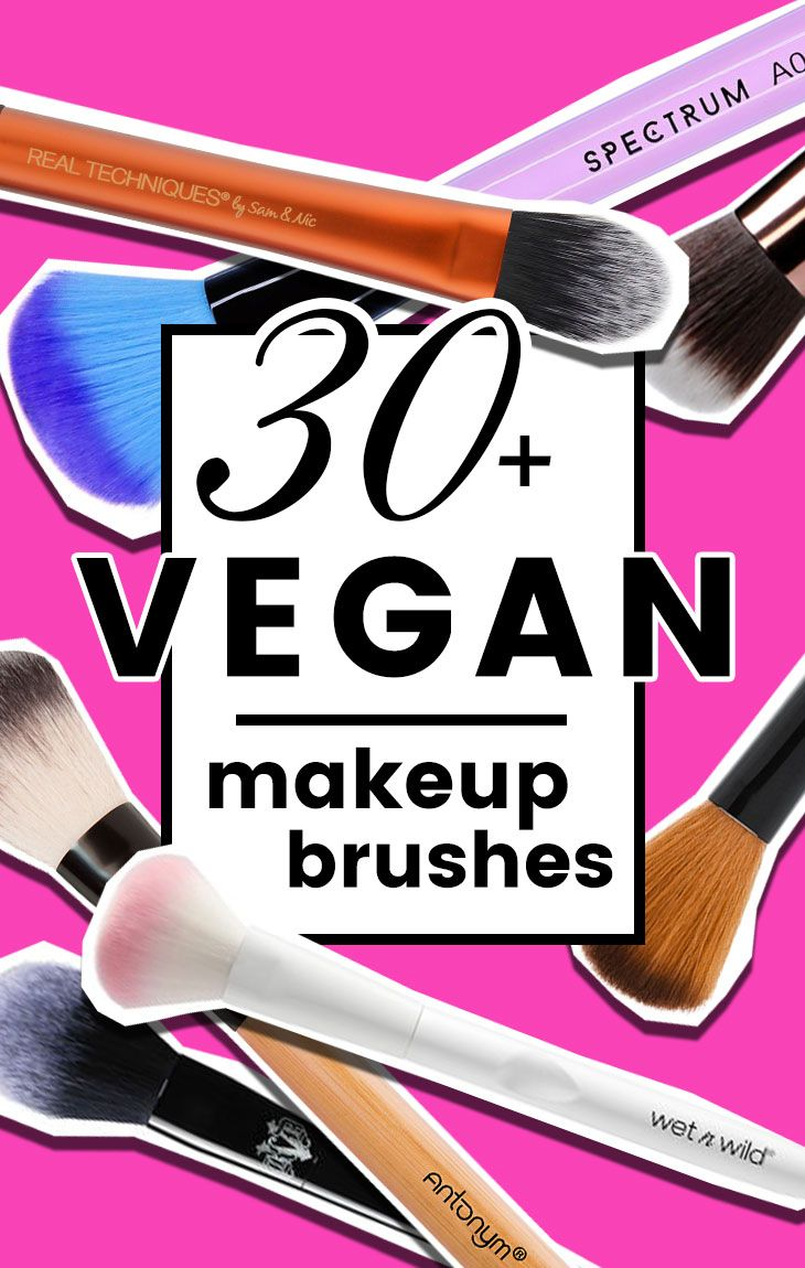 list of 30 animal-free makeup brushes