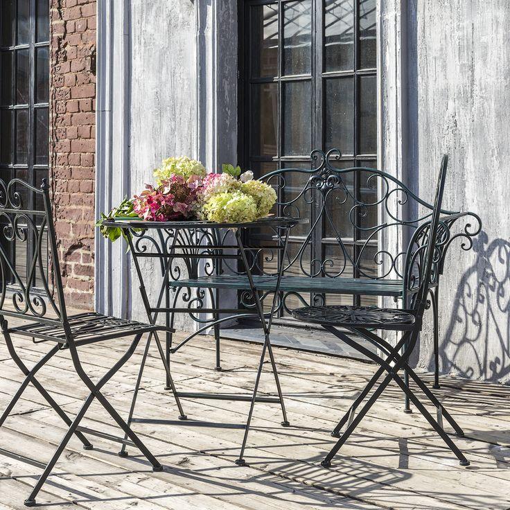 """Складной прямоугольный #стул """"Тюильри"""", складной #стол """"Тюильри"""", #скамья """"Тюильри"""", складной круглый стул """"Тюильри"""" (черный антик). #мебель, #интерьер, #furniture, #objectmechty, #interior"""