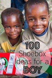 100 Shoebox Ideas for a Boy