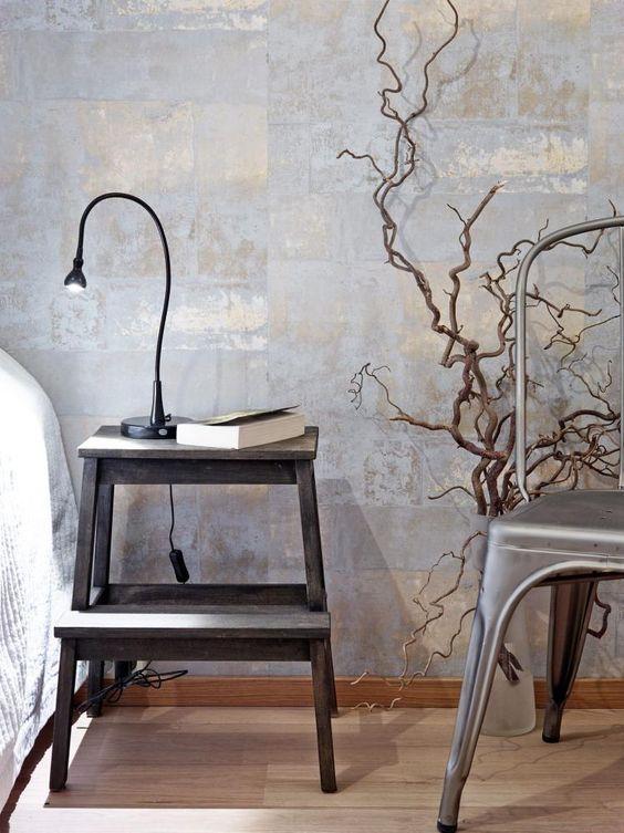 Uma maneira f cil de decorar com tons metalizados - Papel para decorar paredes ...