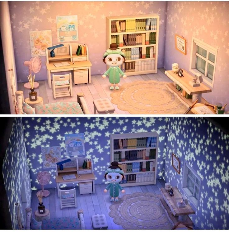 Starry Wall looks AMAZING at night 💫 AnimalCrossing