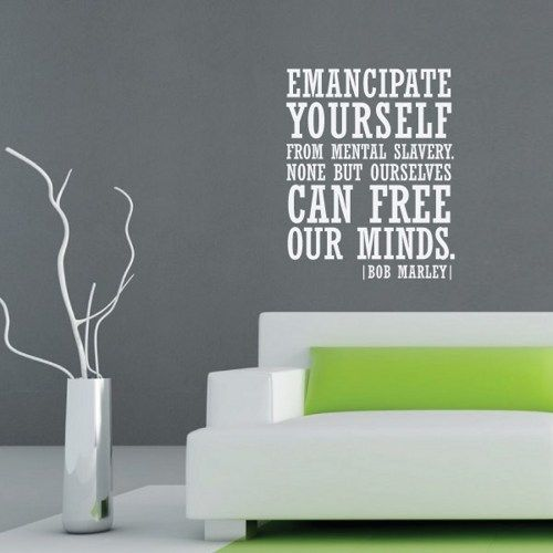 Bob Marley Wall Decal Quote Emante Yourself 36 3 F Molesigns Housewares