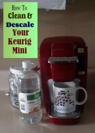 how do i descale a keurig coffee machine