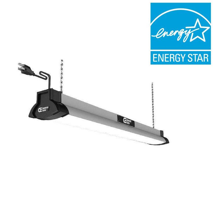 Commercial Electric 42 in. Brushed Nickel LED Shop Light-54264141 - The Home Depot