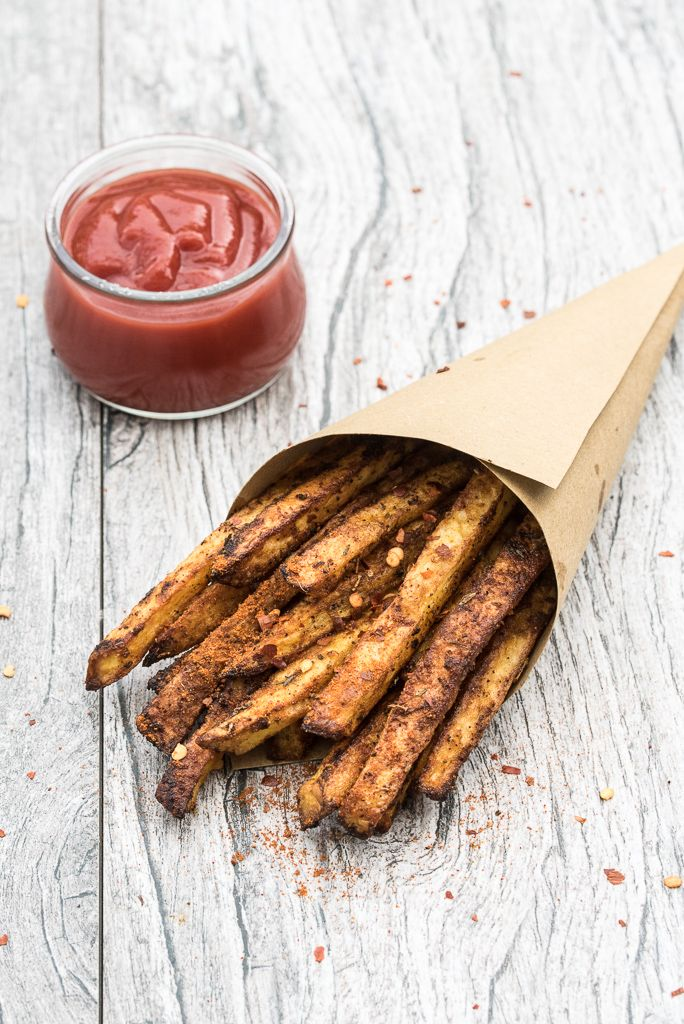 Crispy. Spicy. Oven-Baked Cajun Fries Recipe! Learn how to make crispy, homemade french fries right in your oven with seriously addicting cajun seasoning!