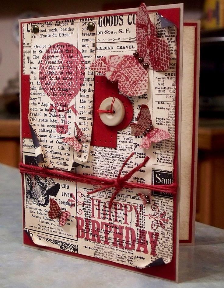 Ephemera Style Birthday Card using Stampin Up YOU'RE AMAZING. $4.50, via Etsy.
