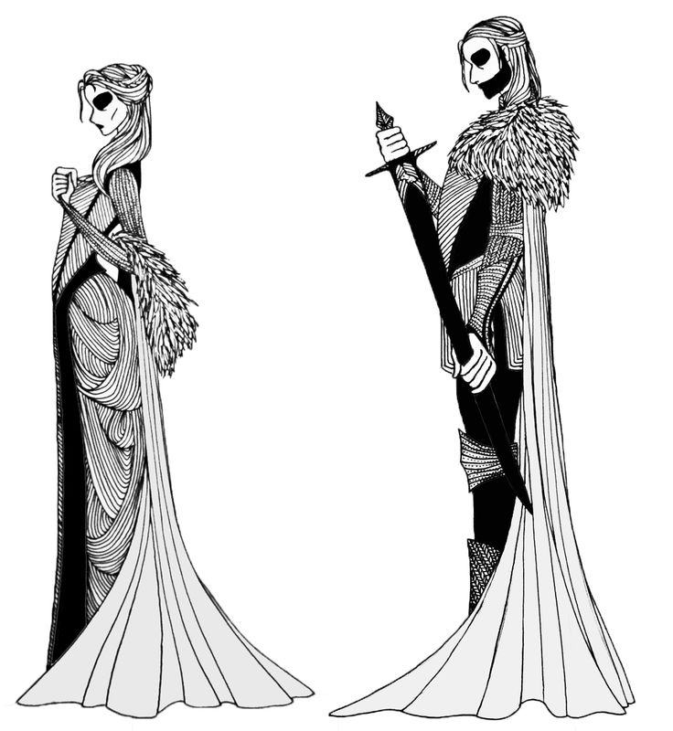 """Lady Catelyn Tully and Lord Eddard Stark from the """"A Song of Ice and Fire"""" series."""